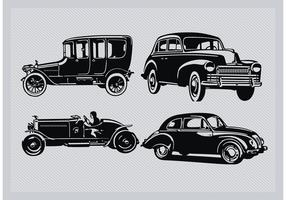 Vintage Car Silhouette Pack