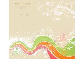 Flower Grunge Background