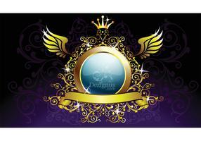 Gold Decoration Shield