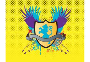 Heraldic Lion Shield