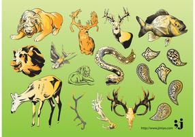 Wildlife Vector Illustrations