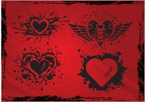 Grunge Hearts
