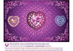Diamond Heart Vectors