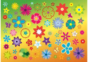 Free Flowers Vector Clip Art