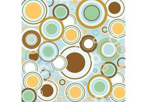 Retro Circles Vector Pattern