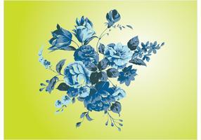 Antique Flowers Vector Art