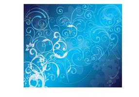 Blue Floral Vector Background