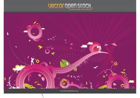 Crazy Purple Background Vector Graphics