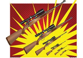 Hunting Rifle Vector Graphics