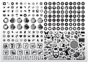 Black White Vector Icons