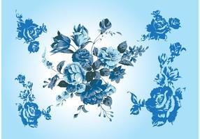 Blue Flower Vectors