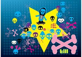 Free Cartoon Skulls Vectors