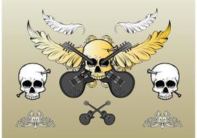 Rock Skull Vector