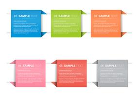 Origami Banner Vector Set