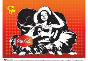 Coca-Cola Girl Vector