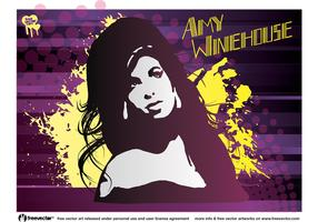 Amy Winehouse Vector Art