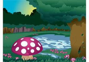 Mushrooms Landscape