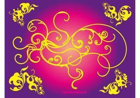 Floral Vector Swirls