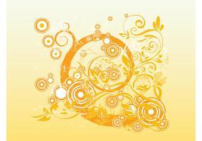 Rounds Swirls Grunge Vector