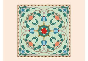 Floral Tile Vector