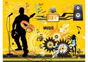 Modern Music Vector Design
