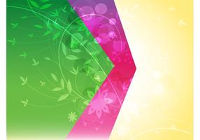 Split Color Floral Background