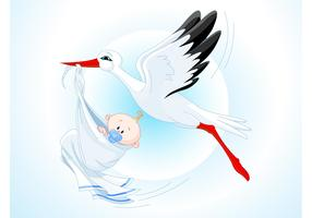 Stork Baby Cartoon