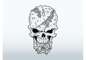 Mutant Skull Drawing