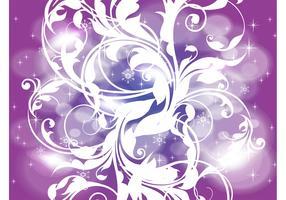Purple Winter Background