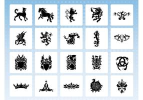 Heraldry Icon Vectors