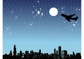 Night City Design Vector