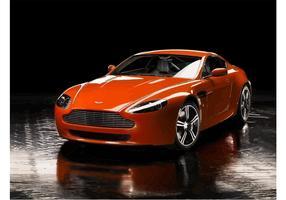 Red Aston Martin Vantage