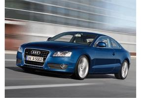Blue Audi A5 Wallpaper