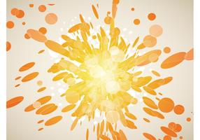 Orange Explosion Vector Graphics