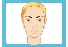 Female Head Vector