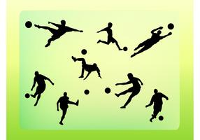 Soccer Vector Silhouettes