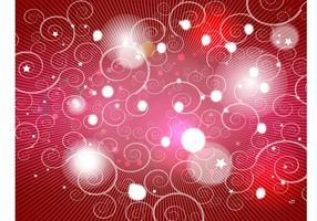 Red Spiral Shapes Background