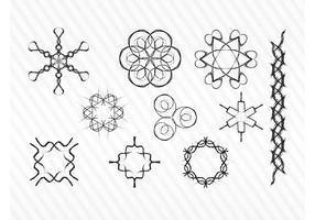 Decorative Sketch Vector Symbols