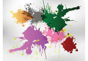 Free Splatters Vector Shapes