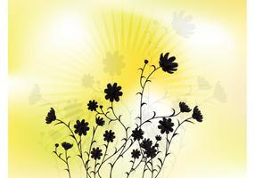 Sunny Flower Vector Art