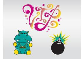 Cool Hippo Vector