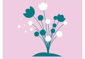 Minimal Flowers Vector