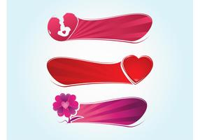 Vector Love Banners