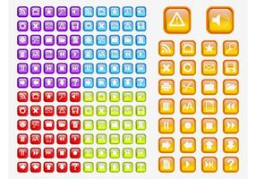 Colorful Shiny Icons