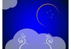 Crescent Moon Background