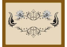 Floral Label Decoration