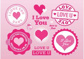 Love Stamps Vectors