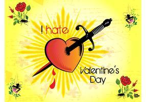 Valentine Hate Vector