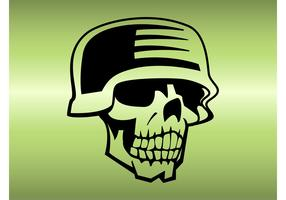 Skull With Helmet