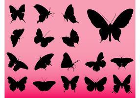 Butterflies Vector Silhouettes
